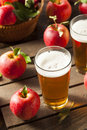 Hard apple cider ale ready to drink Stock Photos
