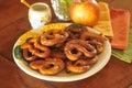 Hard baked pretzel plate Royalty Free Stock Photo