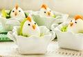 Hard boiled Chicken Egg Family Royalty Free Stock Photo