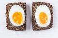 Hard boiled egg sandwich Royalty Free Stock Photo