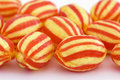 Hard boiled stripy sweets Royalty Free Stock Photo