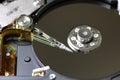 Hard disc drive repair macro Royalty Free Stock Photo