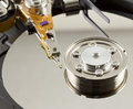 Hard disk from within Royalty Free Stock Photography