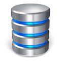 Hard disk and database icon Royalty Free Stock Photo