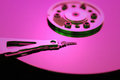 Hard disk detail with a red light Royalty Free Stock Photo