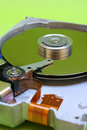 Hard Disk Drive - Green Royalty Free Stock Photo