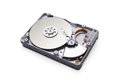 Hard disk drive hdd isolated on white background with clipping path Royalty Free Stock Photos