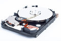 Hard disk drive inside photo of closeup view Stock Image