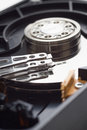 hard disk drive open case Royalty Free Stock Photo