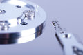 Hard disk drive partially view of disassembled close up Royalty Free Stock Images