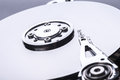 Hard disk drive partially view of disassembled close up Royalty Free Stock Photos