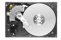 Hard disk drive with removed cover Royalty Free Stock Photo