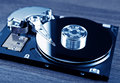 Hard disk drive toned photo of the opened on the table Stock Image