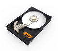 Hard disk drive on white background d render Royalty Free Stock Images