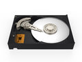 Hard disk drive on white background d render Royalty Free Stock Image