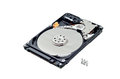 Hard disk drive on white a background for designers Stock Photo