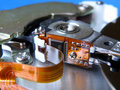 Hard disk inside Stock Photography