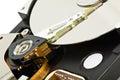 Hard disk open Stock Photo