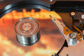 Hard disk operating Royalty Free Stock Photo