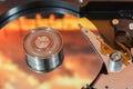 Hard disk operating Royalty Free Stock Photo