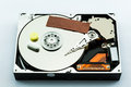 Hard disk recovery concept on white background Royalty Free Stock Image