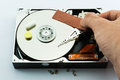 Hard disk recovery concept on white background Stock Photography