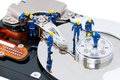 Hard disk repair concept Royalty Free Stock Photo