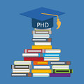 Hard and Long Way to the Doctor of Philosophy Degree PHD Royalty Free Stock Photo