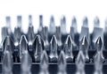 Hard metal tool bits collection Royalty Free Stock Photo