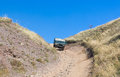 Hard road in mountains crimean Royalty Free Stock Image