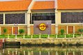 Hard rock cafe durch den melaka fluss Lizenzfreies Stockfoto