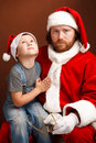 Hard Santas job Royalty Free Stock Photos
