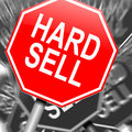 Hard sell concept. Royalty Free Stock Photo