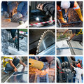 Hard work collage Royalty Free Stock Image
