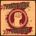 Hard Work Pays Off Royalty Free Stock Photo