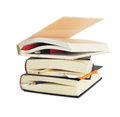 Hardcover Books with Bookmarks Royalty Free Stock Photo