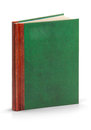 Hardcover leather book clipping path 免版税图库摄影