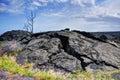 Hardened lava rock on hawaii island Royalty Free Stock Photos