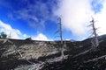 Hardened lava on volcano slope of etna sicily Royalty Free Stock Images