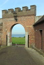 Harderwijk fortification the medieval gate in netherlands Royalty Free Stock Images