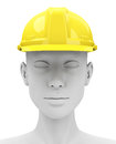The hardhat d generated picture of a on a white concept head Royalty Free Stock Images