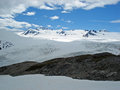 Harding Icefield and Exit glacier Kenai Alaska Royalty Free Stock Photo