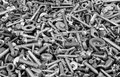Hardware bolts nuts washers screws an assortment of including Royalty Free Stock Photos