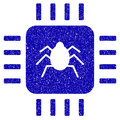 Hardware Bug Icon Grunge Watermark Royalty Free Stock Photo