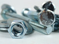 Hardware nuts bolts and washers that is what is made of Royalty Free Stock Image