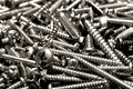 Hardware Sheet Metal Philips Head Screws Pile Royalty Free Stock Photography