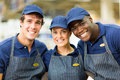 Hardware shop workers group of happy Royalty Free Stock Photo