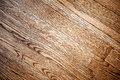 Hardwood floor background texture of a brown stained oak Stock Images