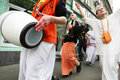 Hare Krishna followers Stock Image