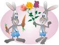 Hares. Stock Photo